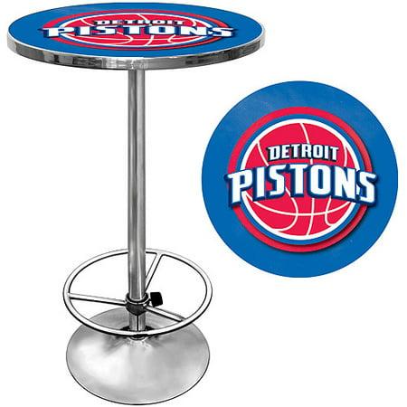 "Trademark NBA Detroit Pistons 42"" Pub Table, Chrome by"