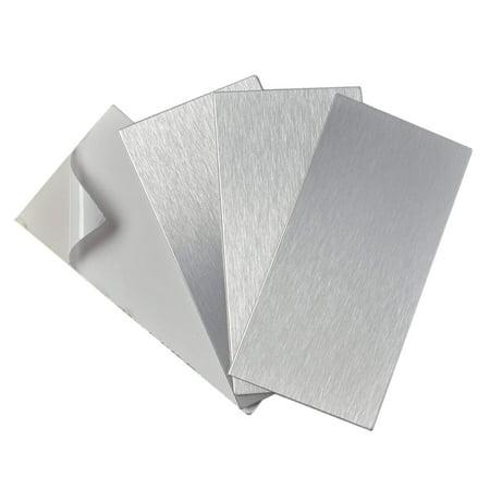 Peel and Stick Stainless Steel Backsplash Tiles, 3