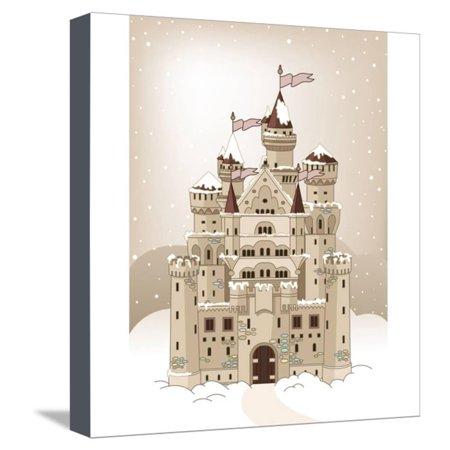 - Magic Fairy Tale Winter Princess Castle. Raster Version. Stretched Canvas Print Wall Art By Dazdraperma