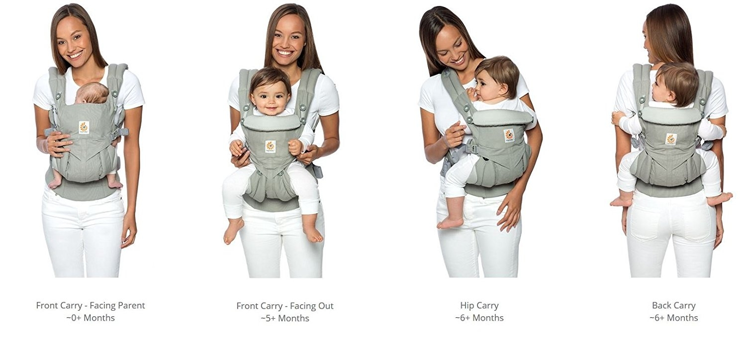 626abecc10e Ergobaby OMNI 360 All-in-One Ergonomic Baby Carrier-Black - Walmart.com
