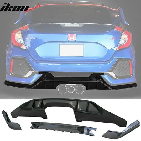 Fits 17-18 Honda Civic Hatchback Type R Rear Bumper Lip Conversion Kit -