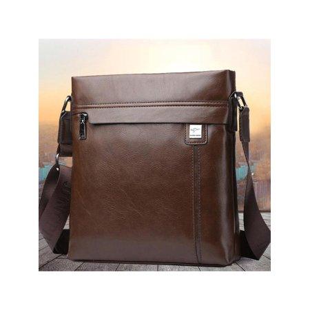 Men Genuine Shoulder Bags Leather Cowhide Vintage Office Bag Travel Shoulder Handbag Christmas Gift (Cowhide Messenger)