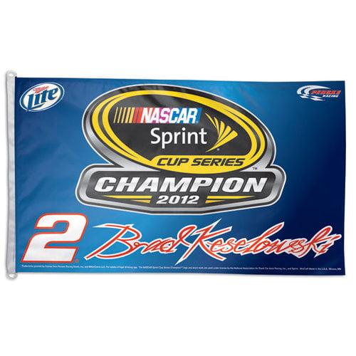 Brad Keselowski 2012 Sprint Cup Champion On Track 3x5 Flag