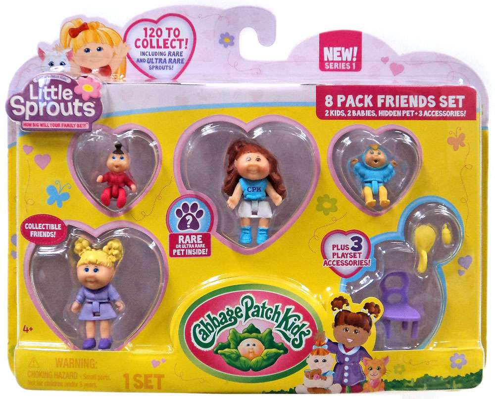 Cabbage Patch Kids Little Sprouts Eden Raine Mini Figure 8-Pack by
