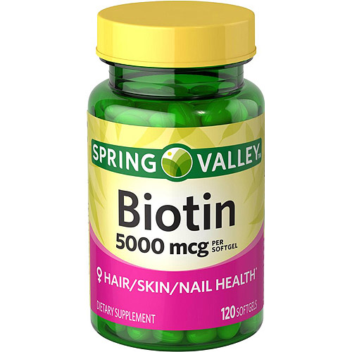 Spring Valley Biotin Softgels, 5000 mcg, 120 count