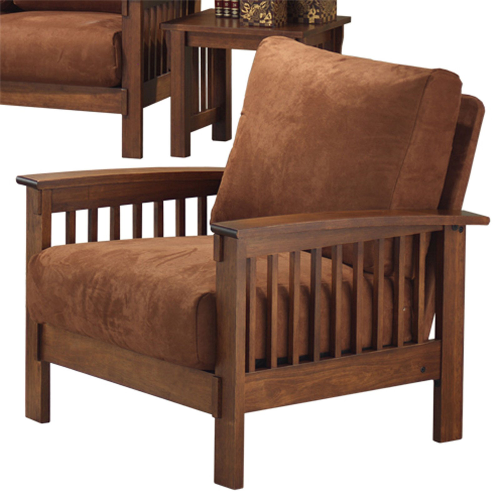Weston Home Mission Rust Champion Accent Chair, Mission Accent Chair