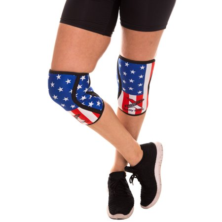 Compression Knee Sleeves Knee Pads For MMA Weight Training Work Braces US