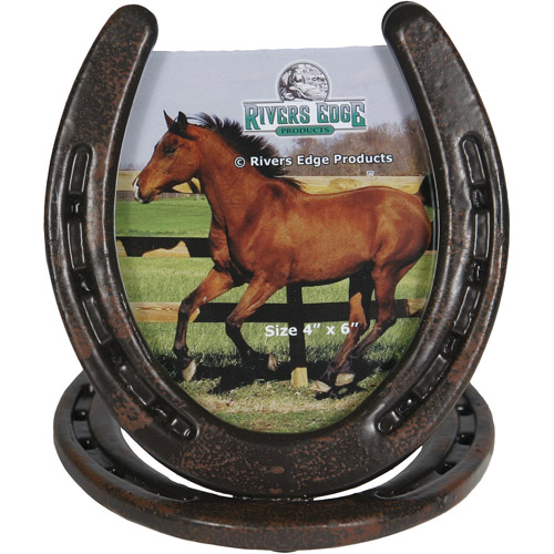 """Rivers Edge Products 4"""" x 6"""" Horseshoe Picture Frame"""