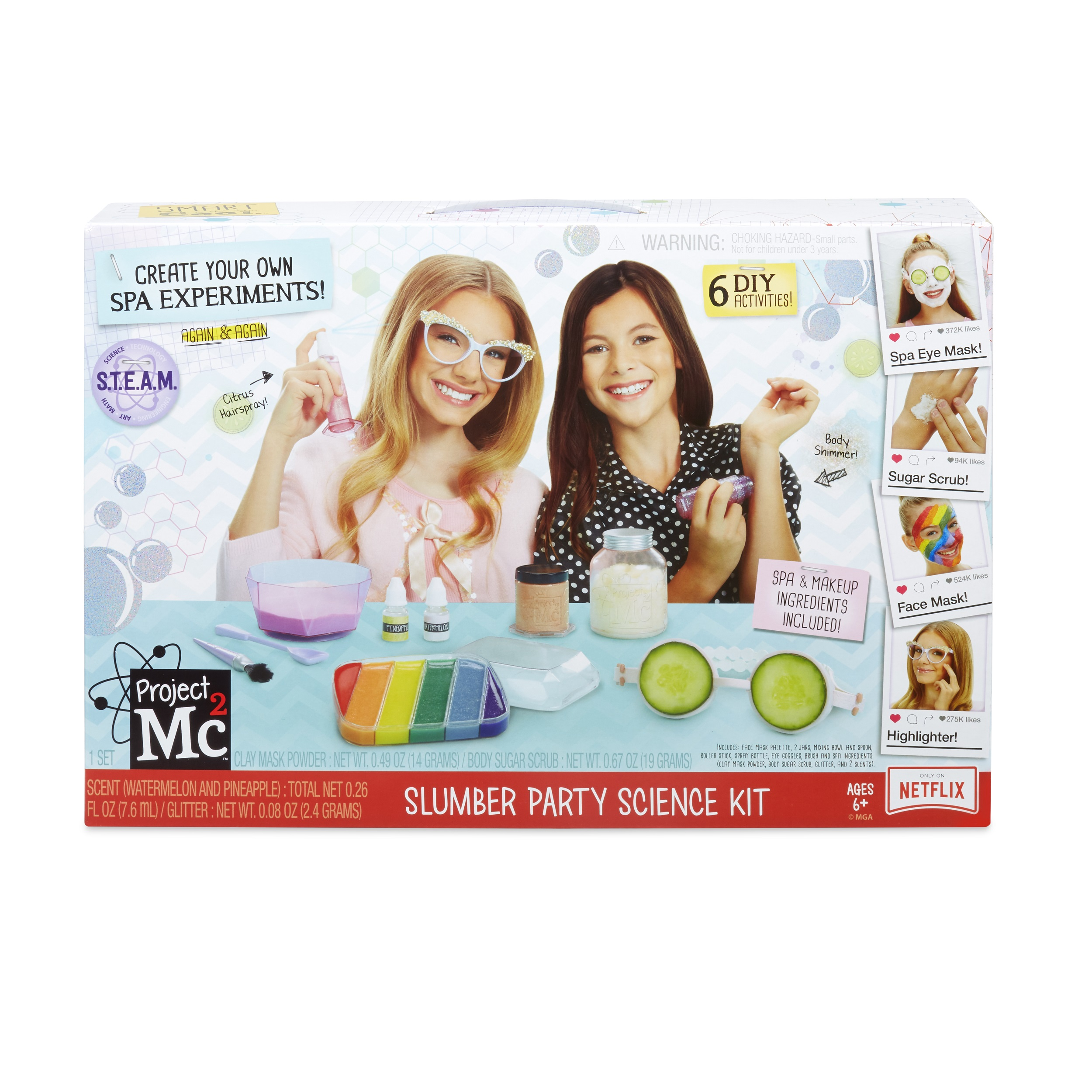 Project Mc2 Slumber Party Science Kit to Create Your Own Spa Treatments