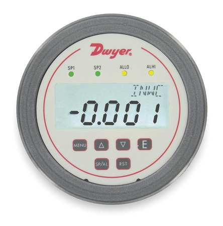 Pressure Digital Panel Meter, Dwyer Instruments, DH3-002