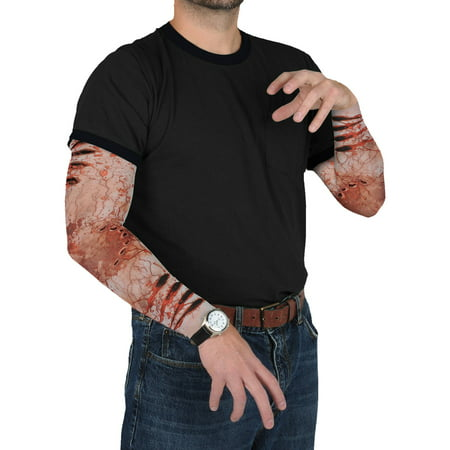 Zombie Bite Party Sleeves Adult Halloween Accessory (Halloween Party Decor Adults)