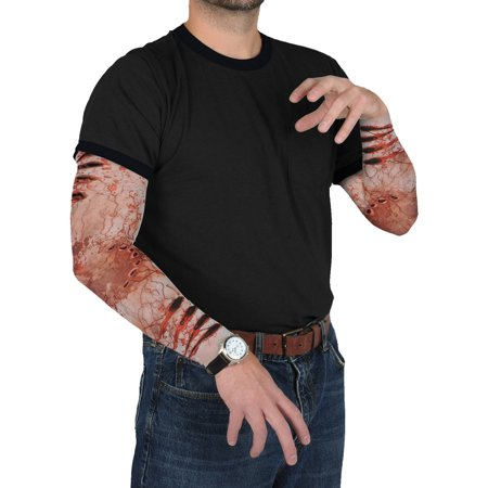 Zombie Bite Party Sleeves Adult Halloween Accessory - Zombie Bite