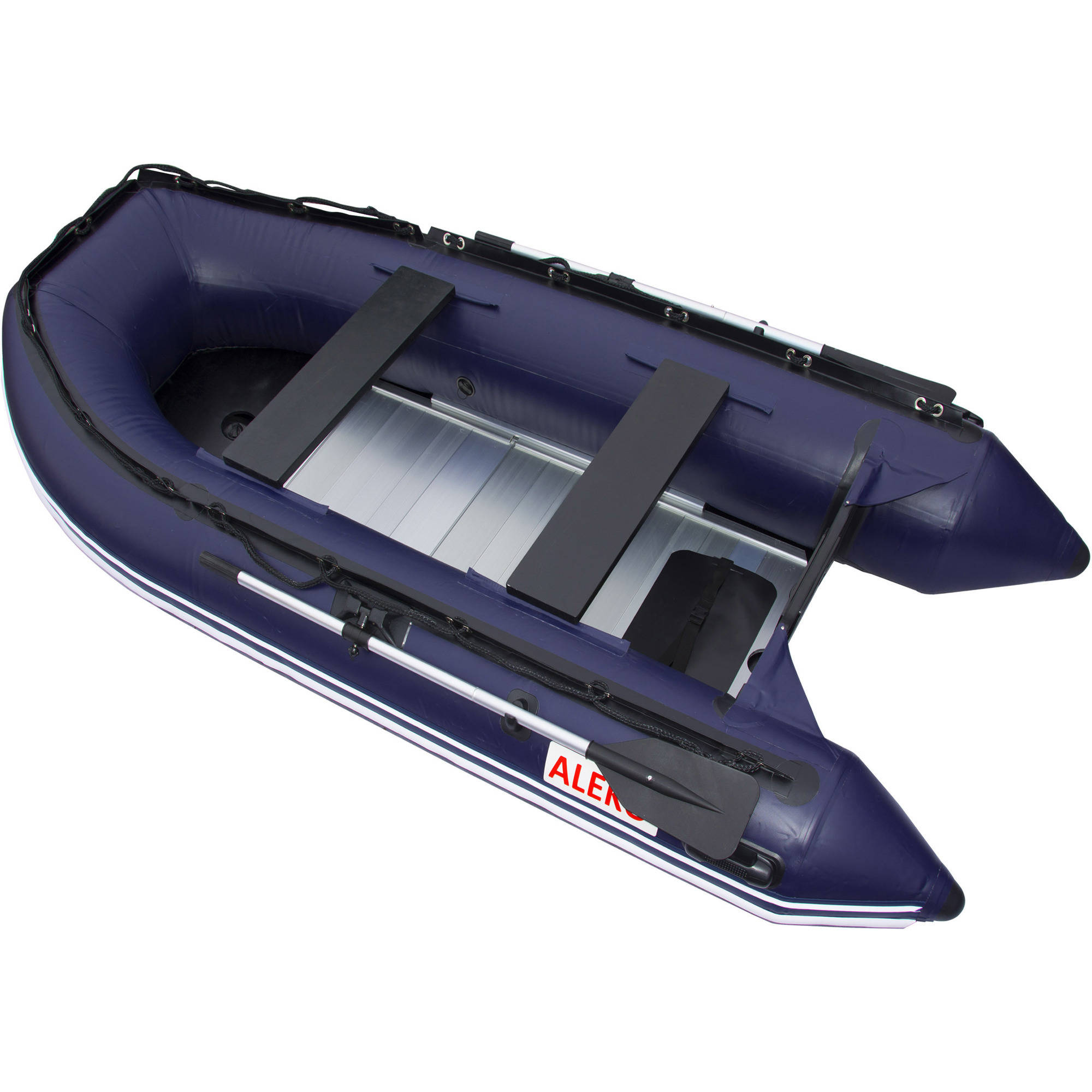 ALEKO Boat 12.5' Inflatable Boat with Aluminum Floor Heavy Duty Design, Blue by ALEKO