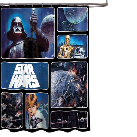 Star Wars Bathroom Set Shower Curtain Hooks Bath Towel Rug And Wastebasket