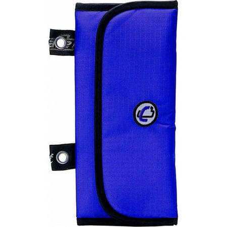 Case it trifold pencil pouch with multiple pen slots, blue
