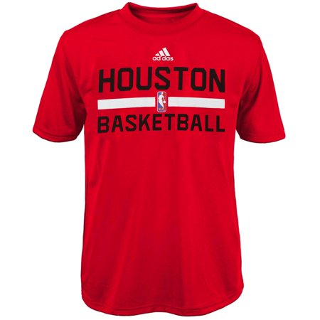 Houston Rockets adidas Youth On-Court Practice climalite T-Shirt - Red Adidas Houston Rockets Short Sleeve T-shirt