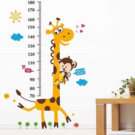 Removable Cartoon Giraffe Wallpaper Self Adhesive Mural Decal Art Wall Sticker Baby Bedroom - Cartoon Halloween Wallpaper