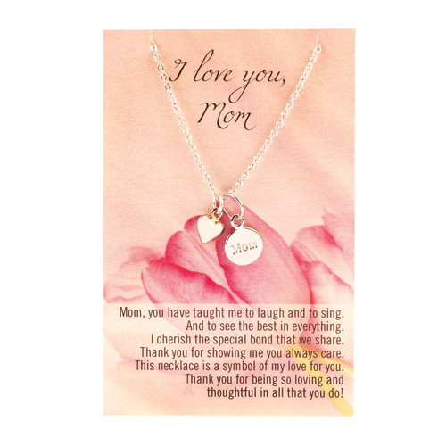 Zingz & Thingz Heart Charm Necklace for Mom