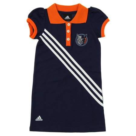 Adidas NBA Little Girls Charlotte Bobcats Polo Dress, Navy (Charolette Bobcats)