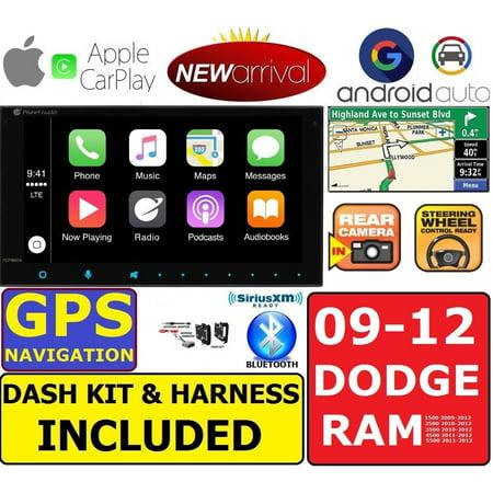 - 2009-2012 DODGE RAM GPS Navigation APPLE CARPLAY ANDROID AUTO CAR STEREO