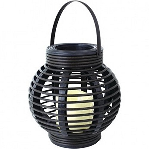 Northpoint Gm8277 Rattan Basket Led Candle [black]