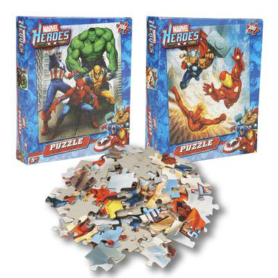 New 213493  Marvel Heroes 100Pc Astd. Puzzles (36-Pack) Action Cheap Wholesale Discount Bulk Toys Action Rectangle Plate](Discount Puzzles)