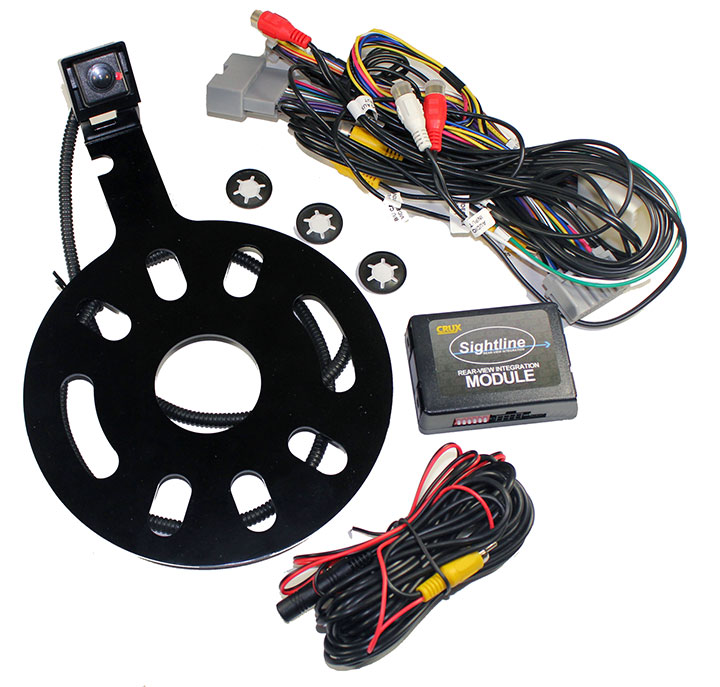 Crux Interfacing Solutions RVCCH75WM Crux Rear-view & Vim Integration With Spare Tire Mount Camera With Moving Lines For... by Crux Interfacing Solutions