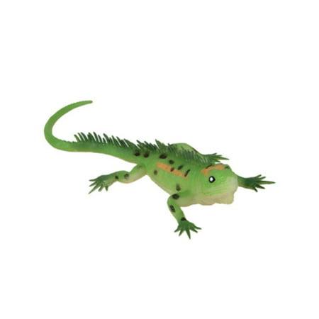 Black Spotted Lime Green PVC Soft Plastic Reptile Lizard Decoration (Plastic Reptiles)