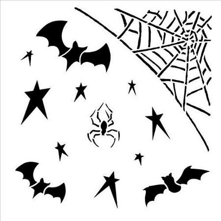 Spider & Bat Bits Embellishment Stencil-