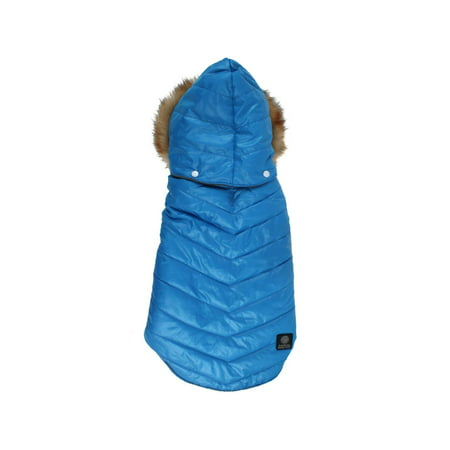 American Kennel Club Dogs Quilted Puff Coat Jacket with Faux Fur (Dog Jacket Coat Fur)