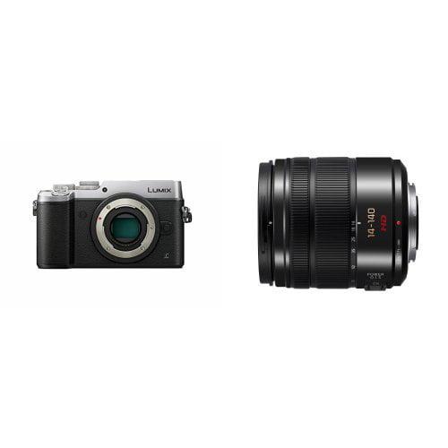 Panasonic Lumix DMC-GX8 Mirrorless Micro Four Thirds Digital Camera (Body Only, Silver) with Panasonic LUMIX G... by Panasonic