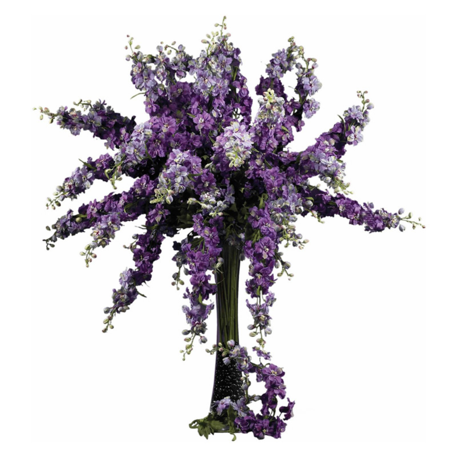 "Nearly Natural 38.5"" Delphinium Stem, Purple, 12pc"