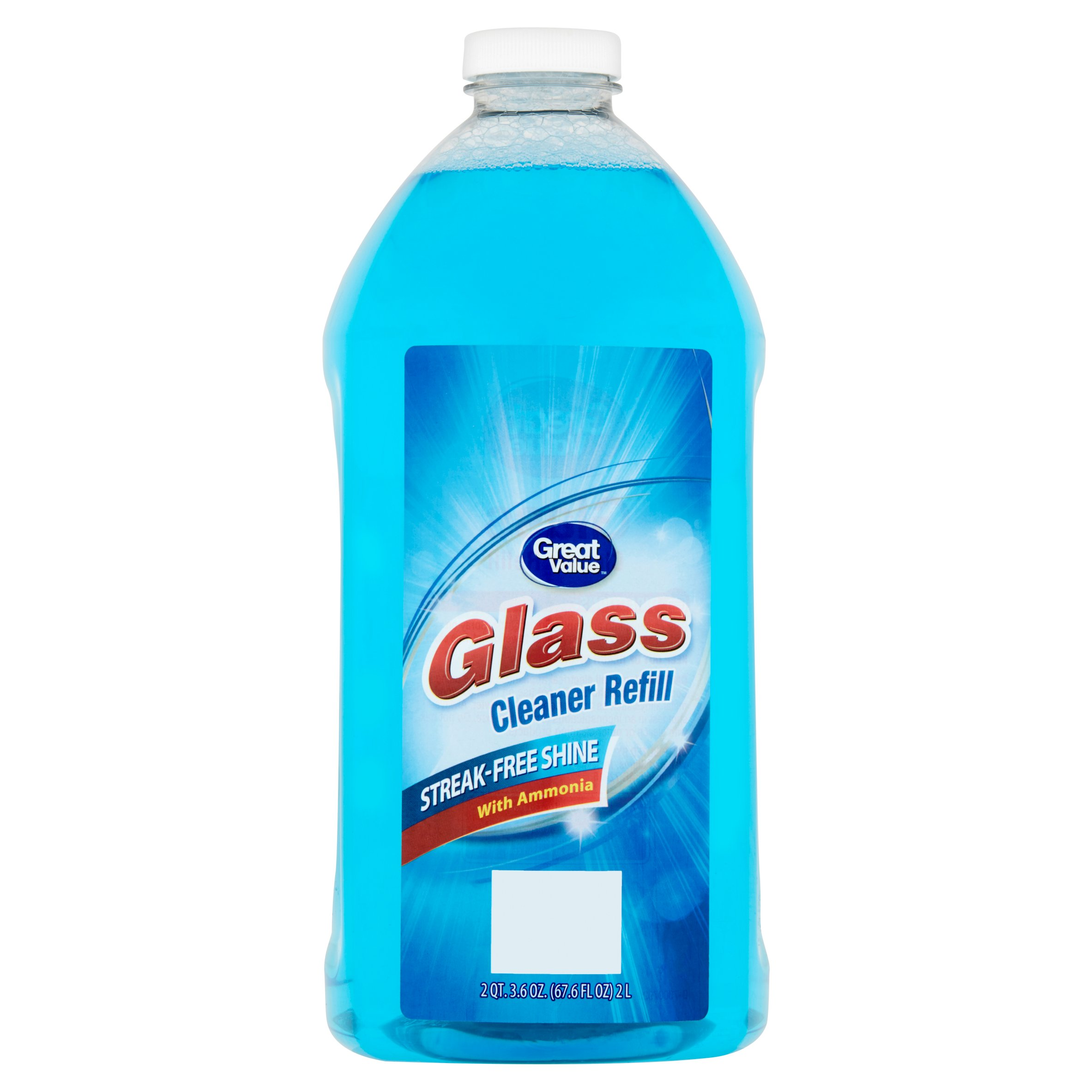 Great Value Glass Cleaner Refill, Streak-Free Shine, 67.6 fl oz