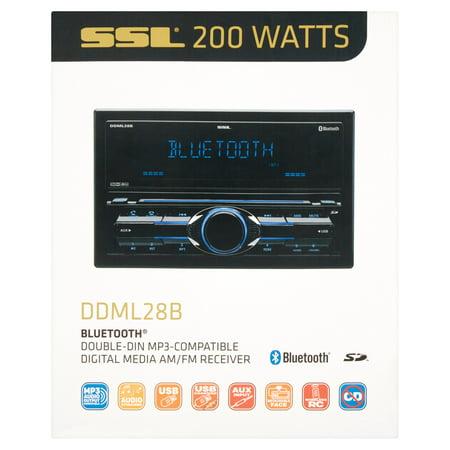 Ssl Double Din Mp3 Compatible Digital Media Am Fm Receiver