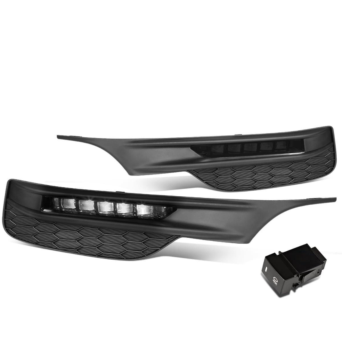 For 16-17 Honda Accord Front Bumper LED Fog Light/Lamp+Bezel+Switch Smoked Lens Left+Right