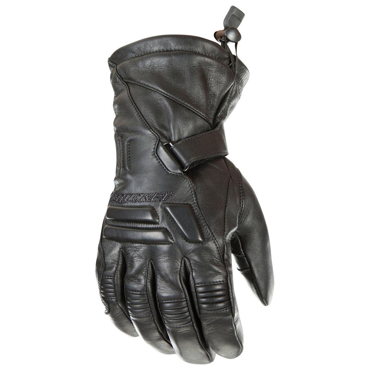 Joe Rocket Windchill Mens Black Leather Motorcycle Gloves