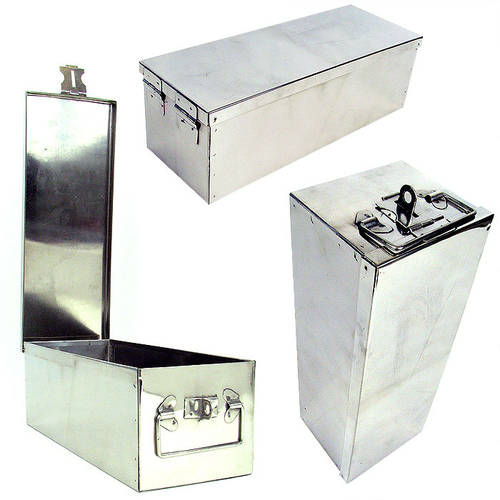 Stalwart Oversized 12 Inch Metal Storage Lock Box With Handle