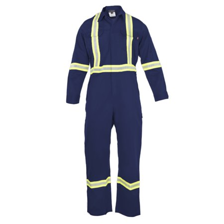 Flame Resistant FR HI VIS High Visibility Coverall; – 88%C/12%N – 7 oz twill