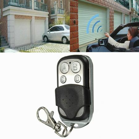 Fob Keychains Box (New ABCD 4 Channel Electric Universal Gate Garage Door Remote Key Control Key Fob 270MHz~434MHz Cloning Door Keychain Transmitt Key Fob )