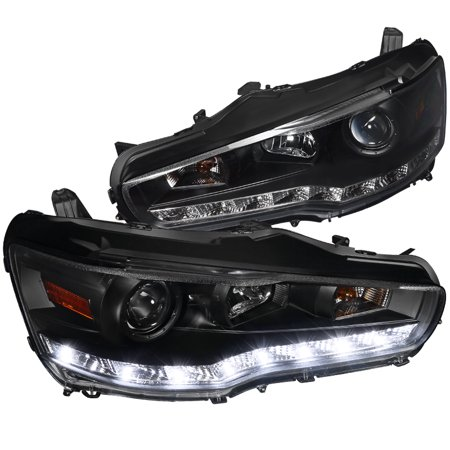 Spec-D Tuning 2008-2015 Evo X Evo 10 Lancer R8 Led Projector Headlights Lamps 08 09 10 11 12 13 14 15 (Left + Right)