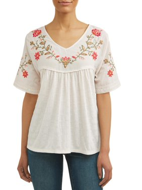 fa310aeb510 Product Image Women s Short Sleeve Embroidered T-Shirt
