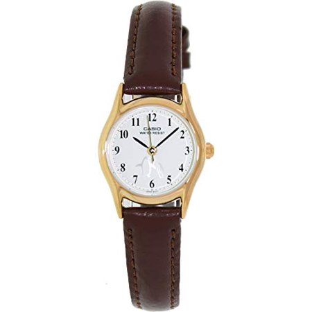 e2c808f1a Casio - Casio Ladies LTP-1094Q-7B6 Penguin Dial with Genuine Leather Band  Watch - Walmart.com