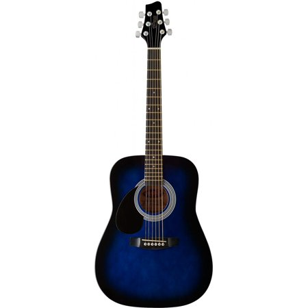 Stagg SW201 3/4 LHBLS Dreadnought Acoustic 3/4 Size Guitar, Left Handed -