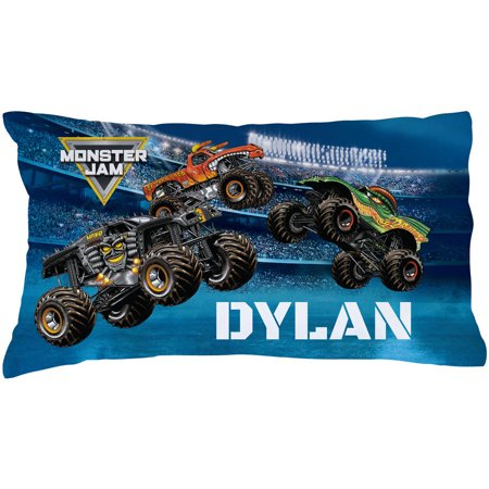 Personalized Monster Jam Arena Madness Pillowcase Black