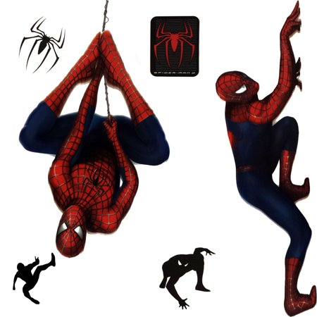 Store51 Llc 12440818 Marvel Spiderman 2 Stickers Superhero Self-stick Decals - Super Hero Stickers