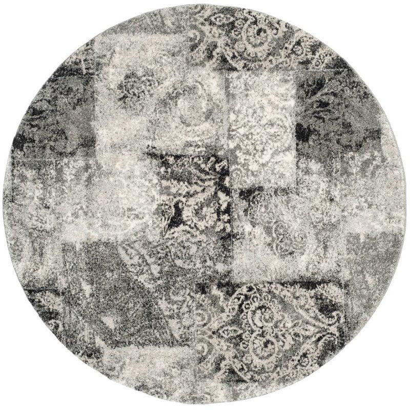 "Safavieh Retro 8'9"" X 12' Power Loomed Rug in Cream and Gray - image 2 de 10"