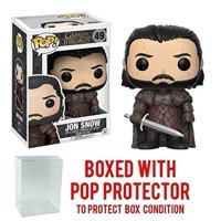 Funko Pop! Game of Thrones: GOT - Jon Snow #49 Vinyl Figure (Bundled with Pop BOX PROTECTOR CASE)