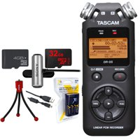 Tascam Portable Digital Recorder Dr 05 W Bundle 32gb Micro Sd