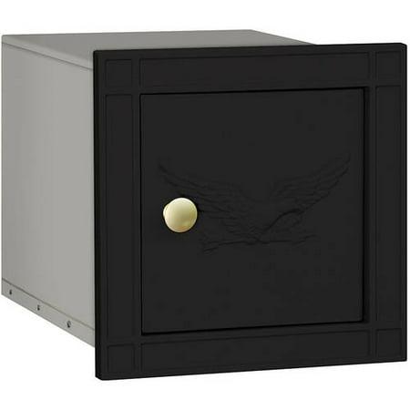 Salsbury Industries Cast Aluminum Column Mailbox, Non-Locking, Eagle Door Plain Aluminum Column