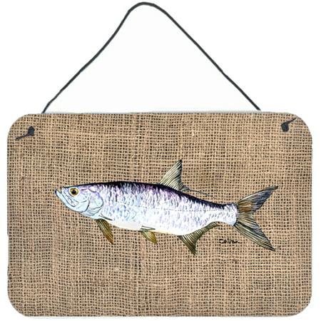 Tarpon Hanging - Fish - Tarpon Indoor Aluminium Metal Wall or Door Hanging Prints